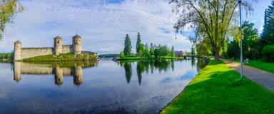 Κάστρο Olavinlinna, σε Savonlinna Στοκ εικόνα με δικαίωμα ελεύθερης χρήσης