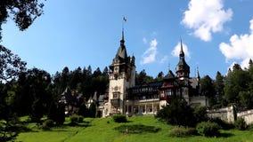 Κάστρο Peles στη Ρουμανία απόθεμα βίντεο