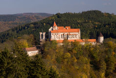 κάστρο pernstejn στοκ εικόνα