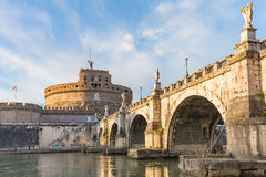 Κάστρο Sant'Angelo στη Ρώμη, Ιταλία Στοκ φωτογραφία με δικαίωμα ελεύθερης χρήσης