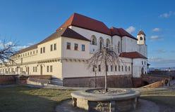 Κάστρο Spilberk το βράδυ, Μπρνο, Τσεχία Στοκ Φωτογραφία
