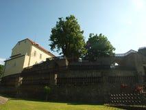 Κάστρο Svojanov, ghotic κήπος στοκ φωτογραφία