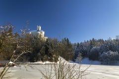 Κάστρο Trakoscan το χειμώνα Στοκ Εικόνα