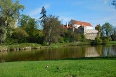 Κάστρο Tyn Horsovsky την άνοιξη Στοκ φωτογραφία με δικαίωμα ελεύθερης χρήσης