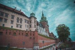 Κάστρο Wawel στην Κρακοβία στοκ φωτογραφία με δικαίωμα ελεύθερης χρήσης