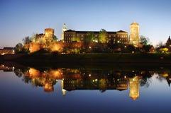 Κάστρο Wawel στην Κρακοβία Στοκ Φωτογραφίες