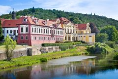 Κάστρο Zbraslav και εθνικό πολιτιστικό ορόσημο μοναστηριών, Zbraslav, Πράγα, Δημοκρατία της Τσεχίας Στοκ Φωτογραφίες