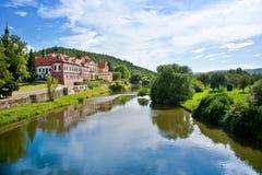 Κάστρο Zbraslav και εθνικό πολιτιστικό ορόσημο μοναστηριών, Zbraslav, Πράγα, Δημοκρατία της Τσεχίας Στοκ Εικόνες