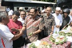 Κάτοικοι ημέρας των ευχαριστιών στην εκλογή του Προέδρου της Ινδονησίας Joko Widodo Στοκ Φωτογραφίες