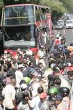 Κάτοικοι ημέρας των ευχαριστιών στην εκλογή του Προέδρου της Ινδονησίας Joko Widodo Στοκ φωτογραφίες με δικαίωμα ελεύθερης χρήσης
