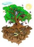 Κάτοικοι του δέντρου διανυσματική απεικόνιση