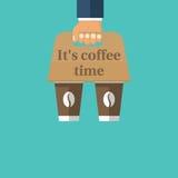 Κάτοχος καφέ διαθέσιμος διανυσματική απεικόνιση