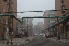 Κάτω από την ελαφριά ομίχλη του tianjin Στοκ φωτογραφίες με δικαίωμα ελεύθερης χρήσης