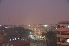 Κάτω από την ελαφριά ομίχλη του tianjin Στοκ Εικόνες