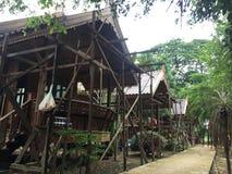 Κάτω από την κατασκευή για το ταϊλανδικό σπίτι στοκ εικόνες με δικαίωμα ελεύθερης χρήσης