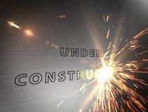 Κάτω από την κατασκευή Στοκ εικόνες με δικαίωμα ελεύθερης χρήσης