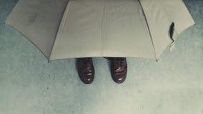 Κάτω από την ομπρέλα Στοκ Εικόνες