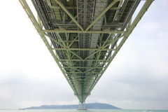 Κάτω από της γέφυρας kaikyo akashi Στοκ Εικόνα