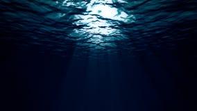 Κάτω από τη βαθιά σκοτεινή θάλασσα ελεύθερη απεικόνιση δικαιώματος