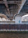Κάτω από τη γέφυρα του Θεόδωρος Ρούσβελτ πέρα από το Potomac ποταμό Στοκ Εικόνες