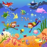 Κάτω από τη θάλασσα διανυσματική απεικόνιση
