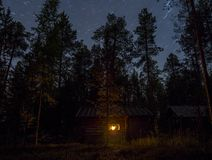 Κάτω από τον ουρανό αστεριών Στοκ φωτογραφίες με δικαίωμα ελεύθερης χρήσης