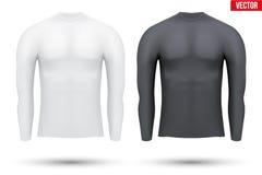Κάτω από το πουκάμισο συμπίεσης στρώματος με το μακρύ μανίκι ελεύθερη απεικόνιση δικαιώματος