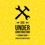 Κάτω από το σημάδι κατασκευής, τυπογραφικό σχέδιο Στοκ εικόνα με δικαίωμα ελεύθερης χρήσης