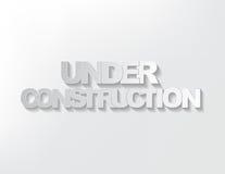 Κάτω από το σημάδι κατασκευής Στοκ εικόνα με δικαίωμα ελεύθερης χρήσης