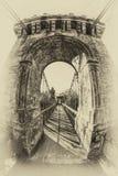 κάτω από το συμπαθητικό ύδωρ αναστολής Σεπτεμβρίου ημέρας γεφυρών βαρκών στοκ φωτογραφία με δικαίωμα ελεύθερης χρήσης