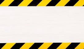 Κάτω από το υπόβαθρο έννοιας κατασκευής προειδοποίηση ταινιών Στοκ Φωτογραφίες