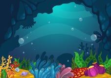 Κάτω από το υπόβαθρο θάλασσας ελεύθερη απεικόνιση δικαιώματος