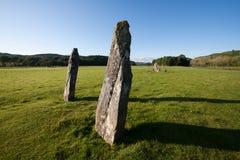 Κάτω μόνιμες πέτρες Largie, Kilmartin Glen, Σκωτία Στοκ φωτογραφία με δικαίωμα ελεύθερης χρήσης