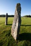 Κάτω μόνιμες πέτρες Largie, Kilmartin Glen, Σκωτία Στοκ Φωτογραφίες