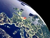 Κάτω Χώρες από το διάστημα ελεύθερη απεικόνιση δικαιώματος