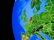 Κάτω Χώρες από το διάστημα απεικόνιση αποθεμάτων