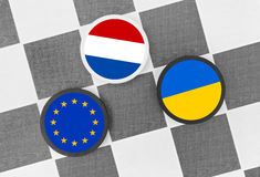 Κάτω Χώρες εναντίον της Ευρωπαϊκής Ένωσης και της Ουκρανίας Στοκ φωτογραφία με δικαίωμα ελεύθερης χρήσης