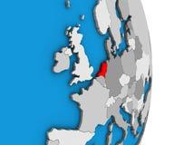 Κάτω Χώρες στην τρισδιάστατη σφαίρα διανυσματική απεικόνιση