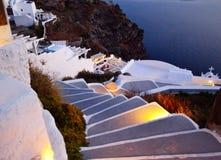 Κάτω Caldera Ελλάδα Fira Santorini άποψης σκαλοπατιών στοκ φωτογραφίες με δικαίωμα ελεύθερης χρήσης