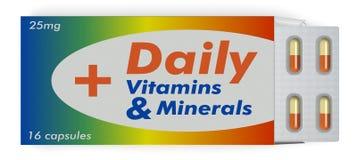 Κάψες βιταμινών και ανόργανων αλάτων Στοκ φωτογραφία με δικαίωμα ελεύθερης χρήσης