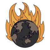 Κάψιμο γήινων κόσμων διανυσματική απεικόνιση