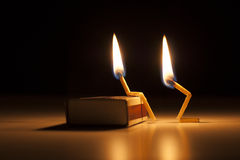Κάψιμο ερωτευμένο - Στοκ φωτογραφίες με δικαίωμα ελεύθερης χρήσης