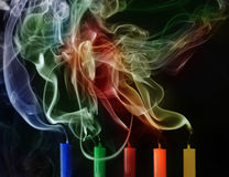Κάψιμο και εξαφανισμένα κεριά ελεύθερη απεικόνιση δικαιώματος