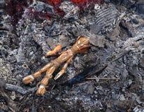Κάψιμο κουκλών βουντού στις τέφρες Στοκ Εικόνα