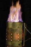 Κάψιμο ξυλάνθρακα Στοκ Εικόνες
