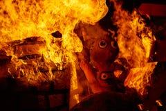 Κάψιμο πυρκαγιάς Fallas στο φεστιβάλ της Βαλένθια στις 19 Μαρτίου Στοκ φωτογραφίες με δικαίωμα ελεύθερης χρήσης