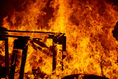 Κάψιμο πυρκαγιάς Fallas στο φεστιβάλ της Βαλένθια στις 19 Μαρτίου Στοκ φωτογραφία με δικαίωμα ελεύθερης χρήσης