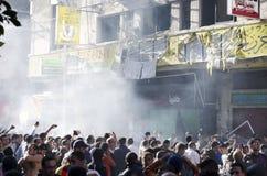 Κάψιμο των γραφείων συμβαλλόμενων μερών ελευθερίας και δικαιοσύνης Στοκ φωτογραφία με δικαίωμα ελεύθερης χρήσης