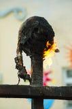 Κάψιμο των τελετουργικών κουκλών στον ειδωλολατρικό εορτασμό της άνοιξη Στοκ Εικόνα