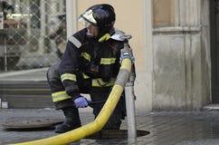 κάψιμο 29m Βαρκελώνη Στοκ εικόνα με δικαίωμα ελεύθερης χρήσης